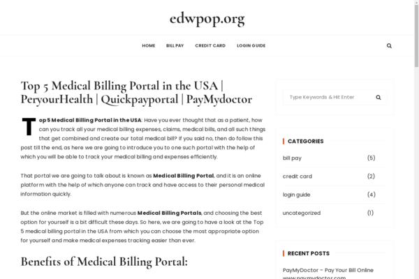 edwpop.org - An old medical site. With organic traffic from the USA.