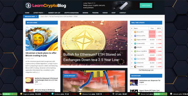 LearnCryptoBlog.com - Autopilot Crypto Bitcoin News Magazine Blog To Make Money Online