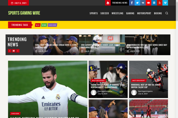 SportsGamingWire.com - Adsense approved, Established Auto blogging site with 4500 Monthly visitors