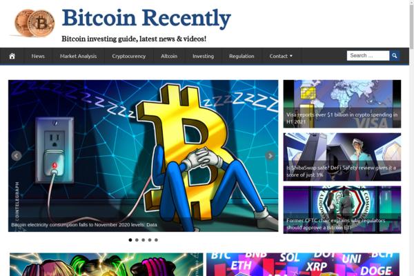 BitcoinRecently.com - 100% Automated, Premium Design, Hot Niche BITCOIN Cryptocurrency Site, Amazon,CB