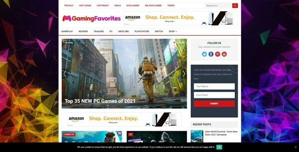 GamingFavorites.com - 100% Autopilot & Automated Gaming Niche Site To Make Money Online From Amazon Ads, Affiliate Links - 200 Amazon Products Imported