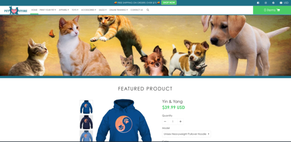 petprintstore.com - Online store specialized in pet products