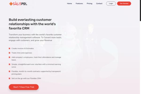 salepol.com - SalePol - CRM & PR Management Huge Potential to grow $10k/m with subscription