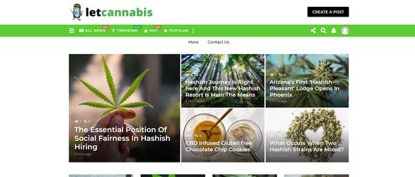 letcannabis.com - Cannabis Automated Blog with Articles Rewriter Site News. Get Organic Traffic!