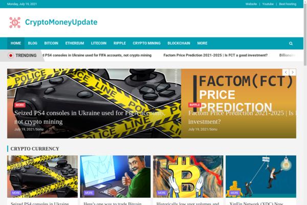 cryptomoneyupdate.com - Fully Automatic Crypto Currency News Website. Estimated Value: $704 (USD)