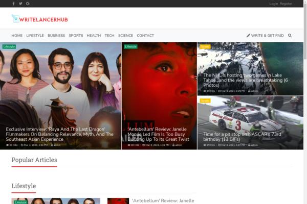 writelancerhub.com - Writing monetization platform , SaaS Application , Catchy Domain