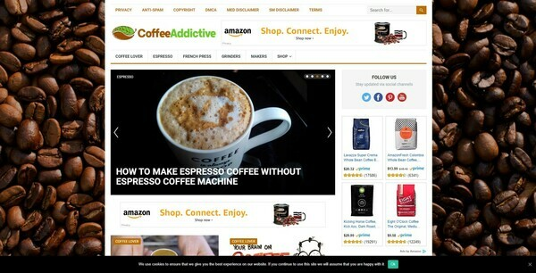 CoffeeAddictive.com - Automated Coffee Niche Blog To Make Money Online from Amazon Affiliate Program