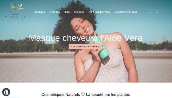 pranaloe.fr - e-Commerce / Health and Beauty