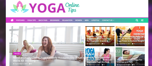 YogaTipsOnline.com - Yoga tips - Hot niche - 100% Automated - 1 Year Free Hosting BIN + Great Bonuses