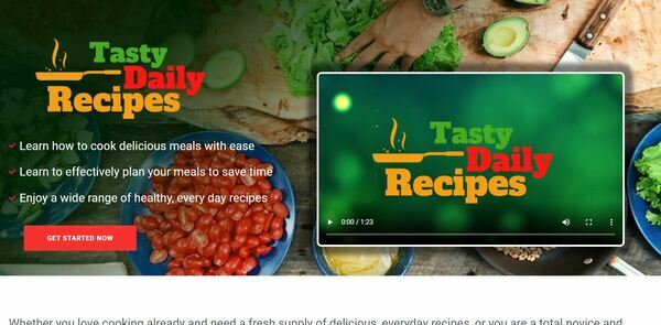 TastyDailyRecipes.com - Cooking and Recipe Book Bundle Store with 8 eBooks, Digital Product for Hands-Off Order Fulfilment, Custom Promo Video & Sales Graphics, WordPress & WooCommerce