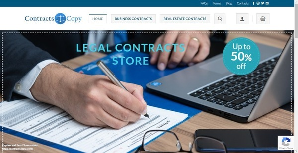 Contracts Copy - 100% Automated Digital Downloads eCommerce ~ Legal Contract Templates Digital products with Huge Demand All Year. Perfect Side Hustle to Make Extra Money.