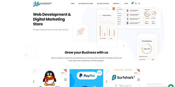 javawebmaster.com - Javawebmaster Web Design Account store! Make money this year