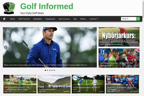 GolfInformed.com - Golf Website, Premium Design, Fully Automated + BIN Hosting Bonus