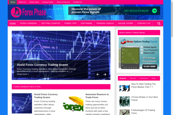 ForexPhase.com - FOREX Blog-HUGE BIZ Opportunity-Pro Design-$1.5K BIN Bonus- NEWBIE Friendly