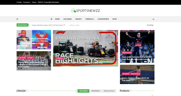 sportsnewzz.com - 100% automated Sports Website with a Premium Theme for Ad & Amazon revenue