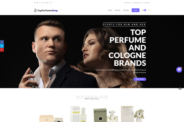 TopPerfumeShop.com - PERFUME / FRAGRANCE Store - Amazing Domain - US Supplier - Unlimited Potential