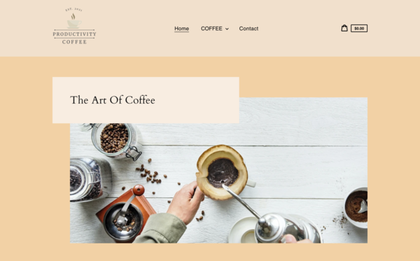 ProductivityCoffee.com - Ready To Go Coffee Store|U.S. Supplier| FAST SHIPPING|New User Friendly | Automated Fulfilment | Premium Domain worth $1,172