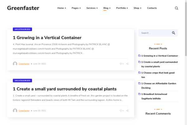 GreenFaster.com - Wordpress Gardening niche with 500 Blog posts, Gets 100% organic Traffic