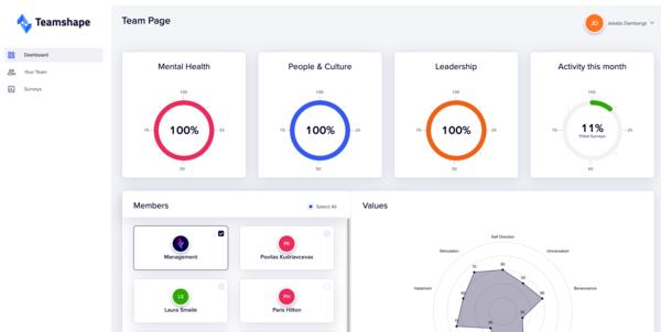 teamshape.io - People Analytics Platform