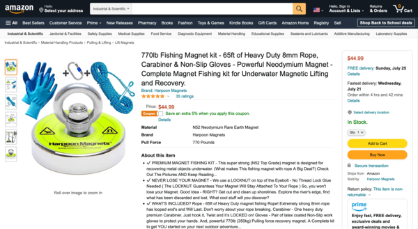 Harpoon Magnets - e-Commerce / Sports and Outdoor