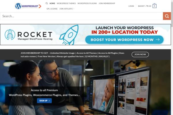 wordpresslist.com - Automated Digital products Website | Selling Plugins themes | Premium Domain