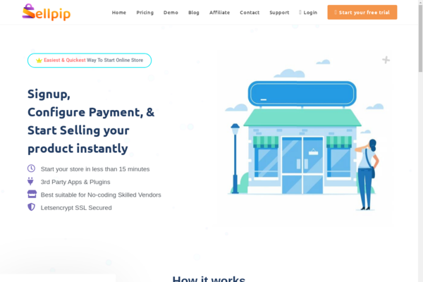sellpip.com - Sellpip.com -Turnkey SaaS Business Similar to Shopify by WordPress & Woocommerce