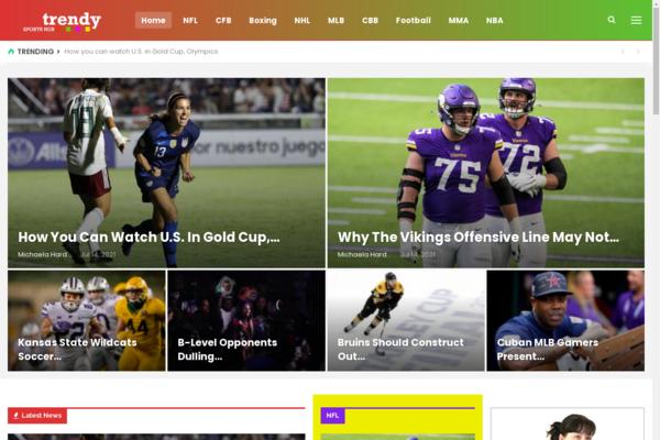 trendysportshub.info - 100% Fully Automatic Sports News Wordpress Website, High Earning Potential