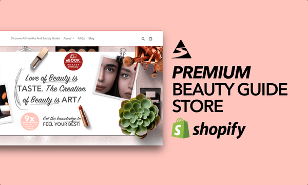 HealthyAndBeautyGuide.com - Password: 1234 | Beauty and Cosmetics Ebook Shopify Store For Sale