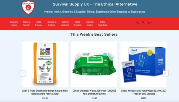 SurvivalSupply.co.uk - Hygiene, Health & Survival - Everyday Essentials and Long Life Shelf Food