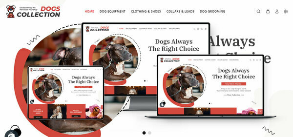 DogsCollection.com - PREMIUM SHOPIFY DOG SUPPLIES DROPSHIP. Fully Automated. Profitable