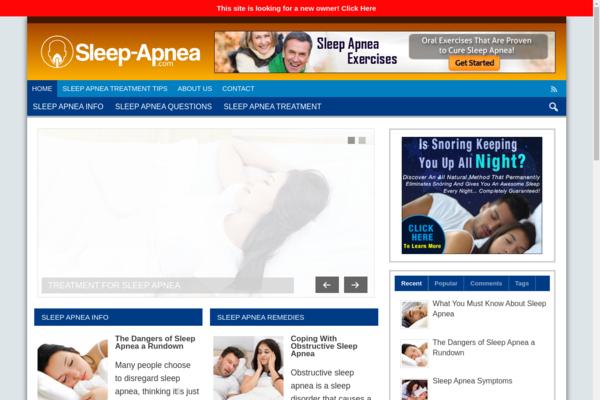 Sleep-Apnea.com - Gorgeous Content Rich Sleep Blog Ready to be Properly Monetized