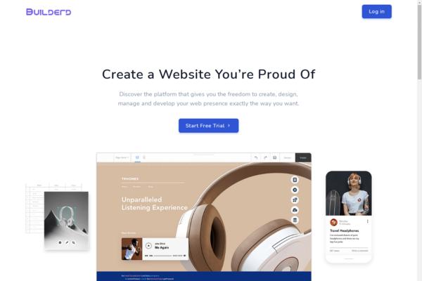 builderd.com - Drag&Drop SaaS HTML site builder (like Wix and Weebly) CV/resume, landing page