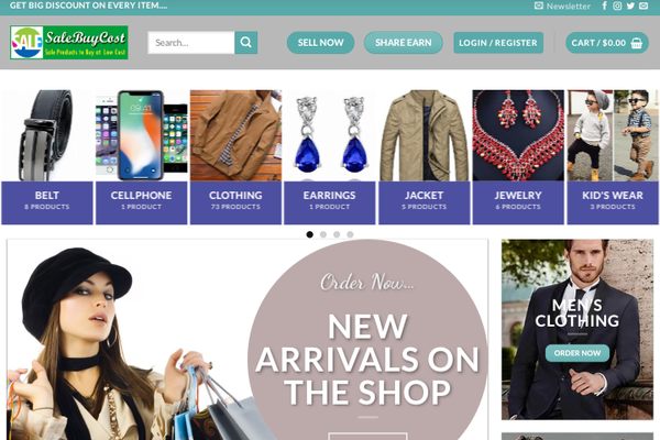 SaleBuyCost.org.uk - $3,791.73 Total Sold -Multi-Vendors  -30K Product -8 million backlinks