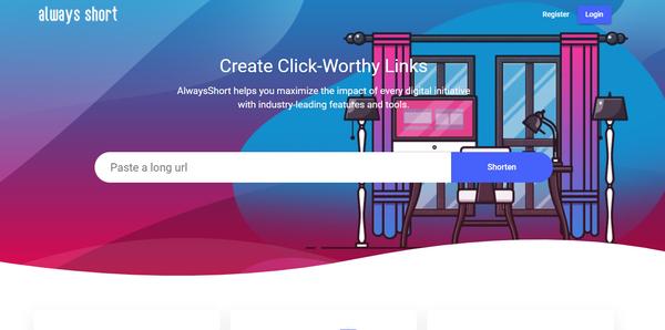 alwaysshort.xyz - Build your own SaaS App with Premiun URL Shortener & Bio Link creator