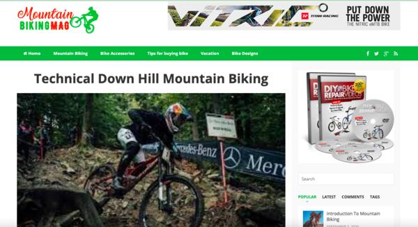 mountainbikingmag.com - Premium 100% done for you Mountain Biking Information website