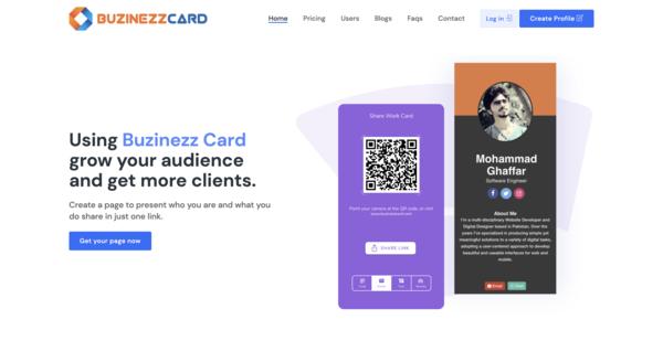 buzinezzcard.com - SaaS, Multi-user Profile Resume & vCard Website, Low BIN