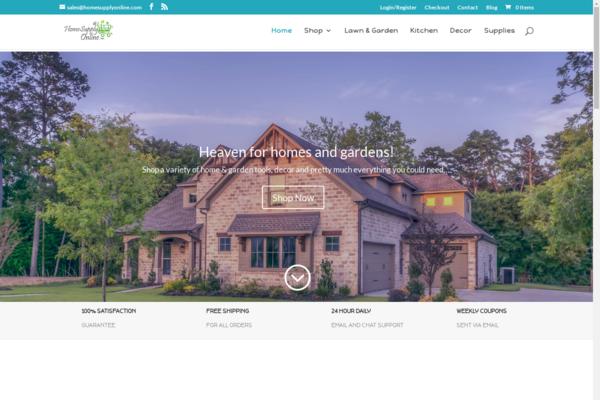 homesupplyonline.com - Home & Garden Dropship Store   $1,077 Domain Value