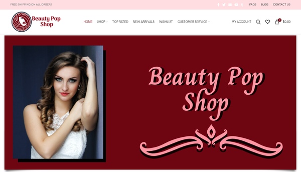 BEAUTY POP SHOP - Automated Store, SEO Backlinks $4,500/Mo Potential, 18-years Domain, Google Indexed Ready - NO RESERVE!