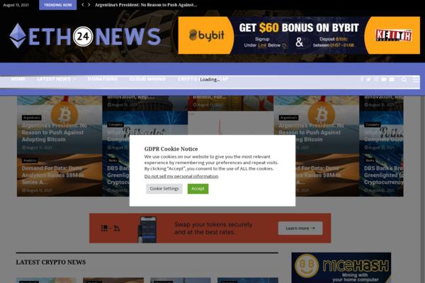 eth24news.com - ETH24News.com - Fully Autopilot Crypto News & Marketcap Ready Business