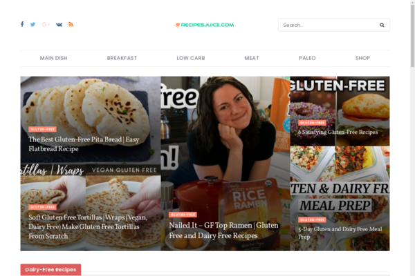 RecipesJuice.com - 100% Automated Viral Recipes & Diet Site - 2 Years Free Host BIN + Great Bonuses