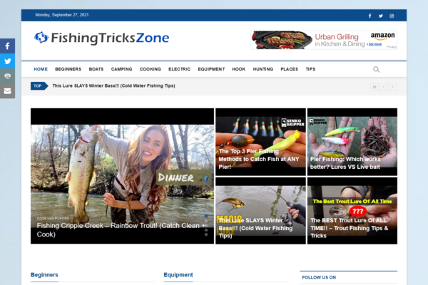 FishingTricksZone.com - 100% Automated Fishing Website - Top Profitable Business - No Experience Needed - Great Potential