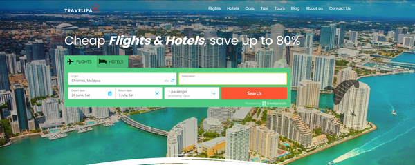 travelipa.com - Premium WhiteLabel Automated Affiliate Travel Business. Earn up to 10 000 $ / mo