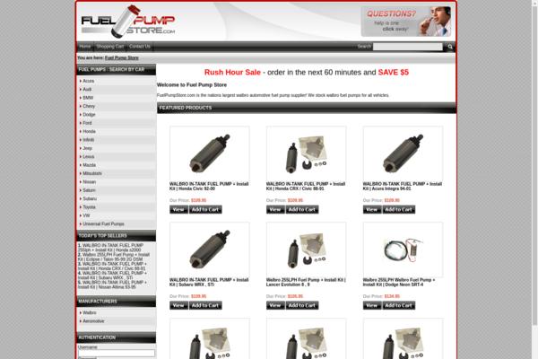 FuelPumpStore.com - Established & Aged Drop Ship Auto Parts Website. Has Made Cash Flow!