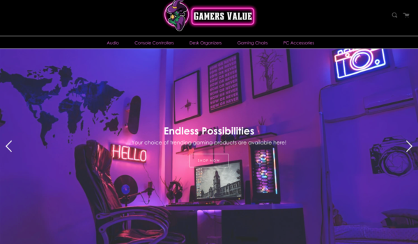 GamersValue.com - GamersValue.com | Gaming Accessories Dropshipping Store | Domain Value $1,290