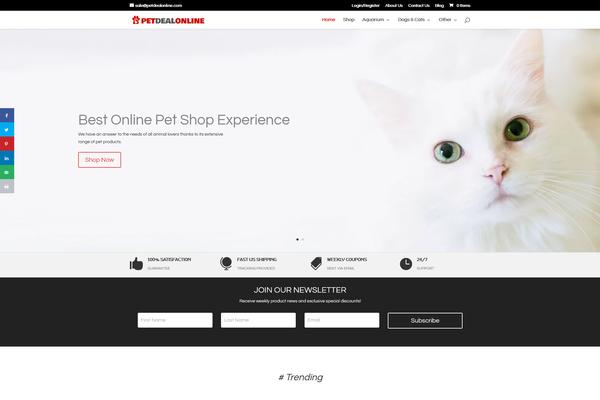 PetDealOnline.com - Pet Supply Shop - Dropship Store - Great Domain - Free Hosting - Turnkey
