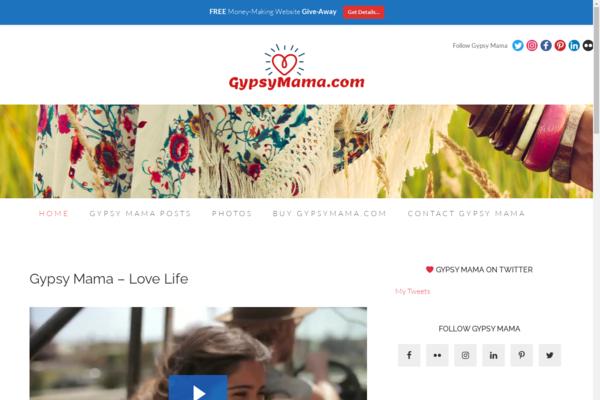 gypsymama.com - Timeless & Iconic GypsyMama.com Website and Brand For Sale