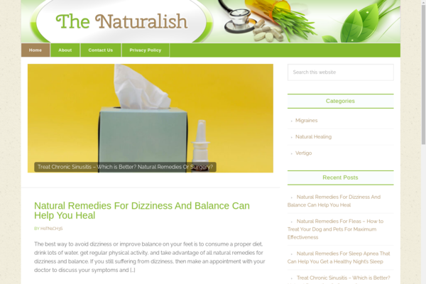 thenaturalish.com - Herbal Remedies  Niche Website For Sale High earnings Potential!