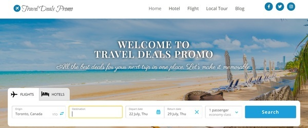traveldealspromo.com - 100% Fully Automated Travel Deals Site - Premium Domain - Low Reserve