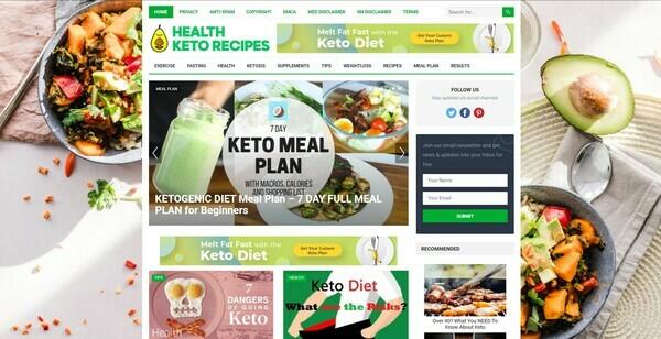 HealthKetoRecipes.com - Autopilot ClickBank Keto Diet Blog To Make Money Online & Passive Income