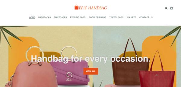 EpicHandBag.com - Handbags Dropship Store-BIg Niche-Pro Design-Newbie Friendly-$1.5KBIN Bonus